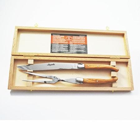 Laguiole Trancherset Olivträ/Rostfritt stål