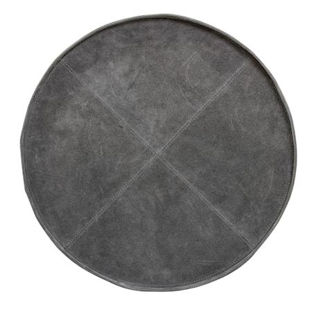 Bricka Rund Grå Mocka 46xH2,5 cm