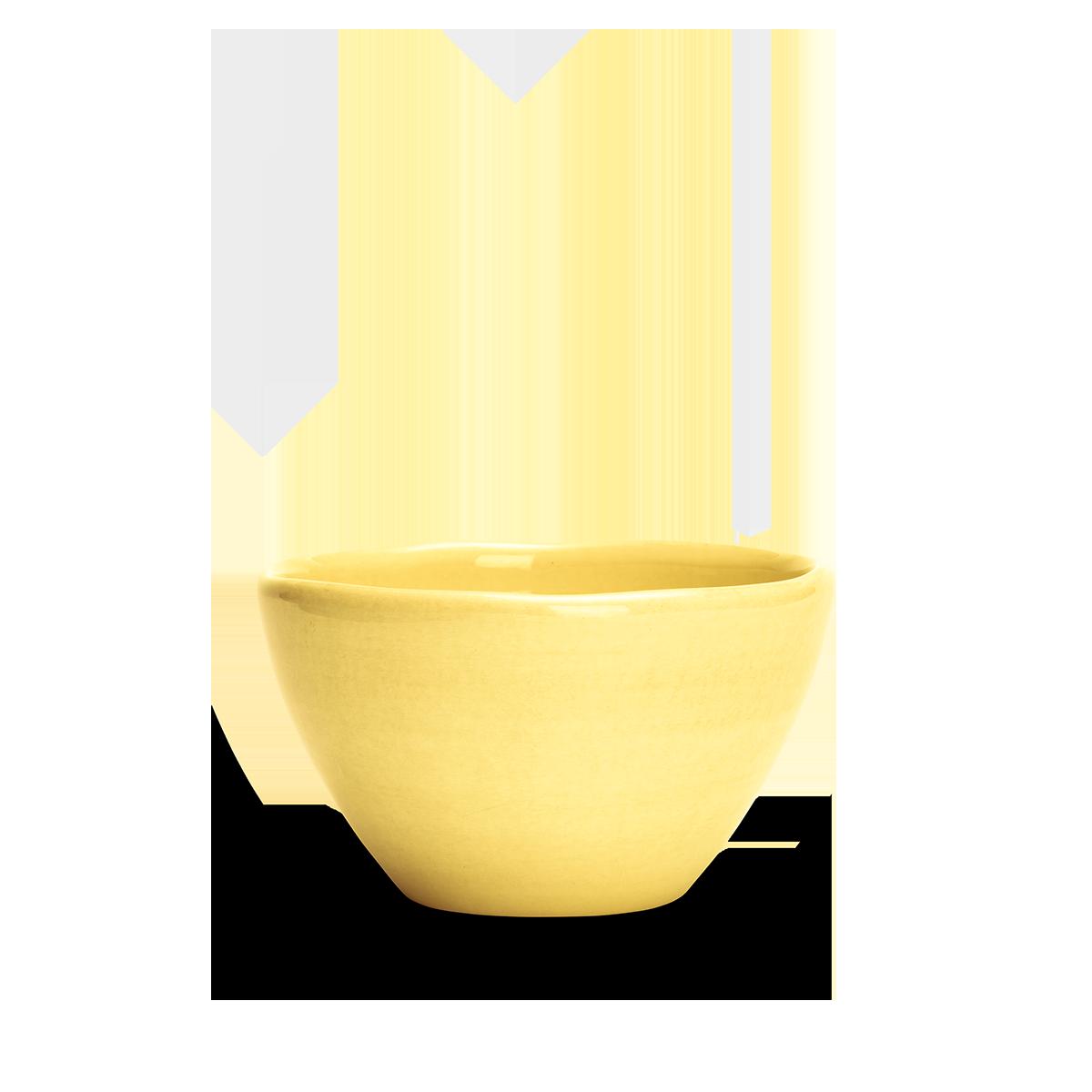 Organic Skål Gul 12 cm