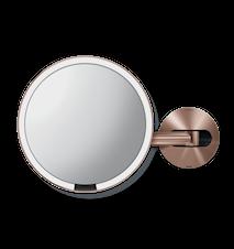 Väggmonterad Sensor Spegel Roséguld Uppladdningsbar 20 cm
