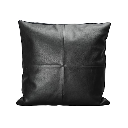 Pudebetræk, Leather, Sort