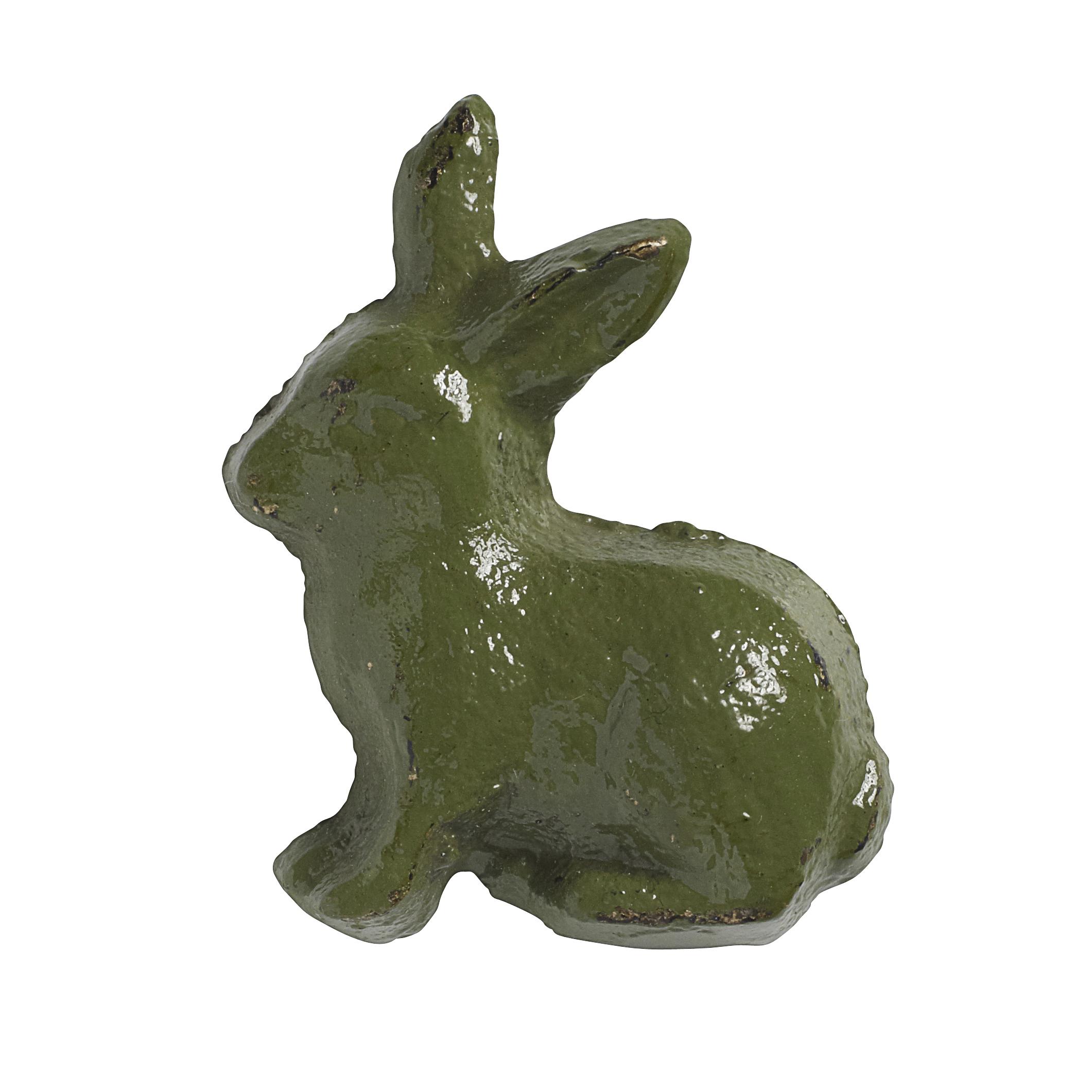 Handtag Kanin 5×4 cm – Grön