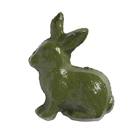 Handtag Kanin 5x4 cm - Grön