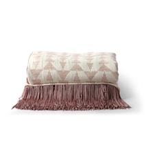 Jacquard Weave Pledd White/Nude 130x170 cm