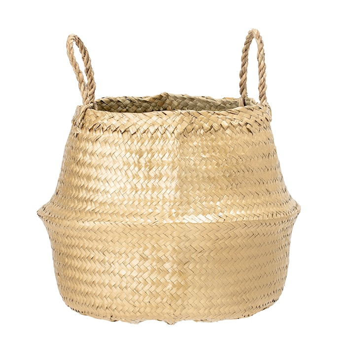 Basket, Gold, Seagrass