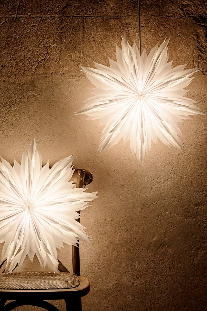 Oslo Julstjärna Vit 80 cm
