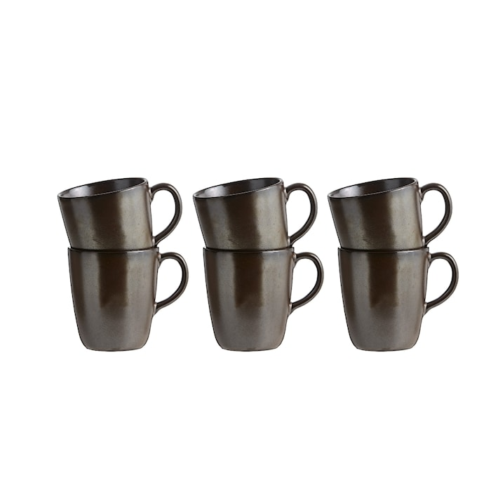 Raw Mugg m Öra Metallic Brown 6 st 35cl
