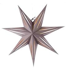Mange Julstjärna Grå/Guld 80 cm