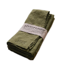 Lovely linen servett – Jeep green