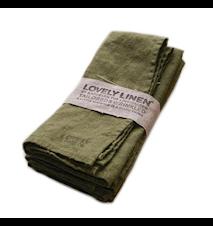 Lovely linen servett – Jeep green