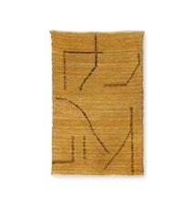 Matta Handvävd Bomull Ochre/brown 120x180