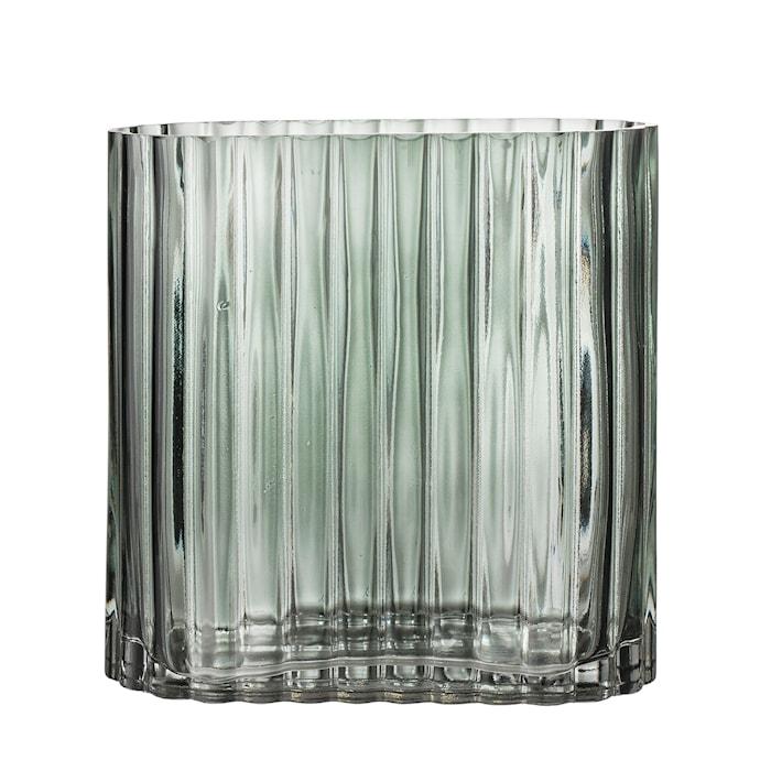 Vas Glas Grön 18x9cm