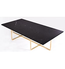 Ninety Table XL - Svart marmor/mässingstomme H40 cm