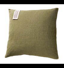 Lovely linen putetrekk – Jeep green, 47x47