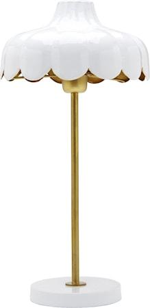 Wells Bordlampe Hvit / Gull 50cm