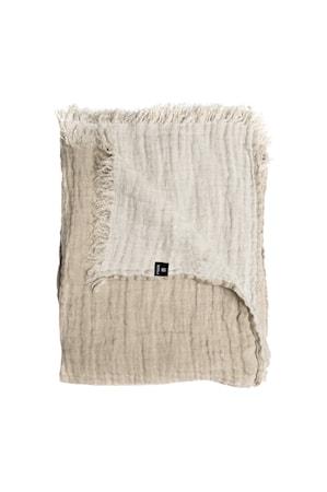 Pläd Hannelin natural/white 130x170 cm