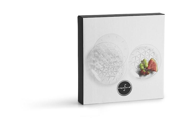 Piknik Tallerken Transparent 4-pakning
