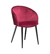 Stol Dual Velour - Deep Ruby