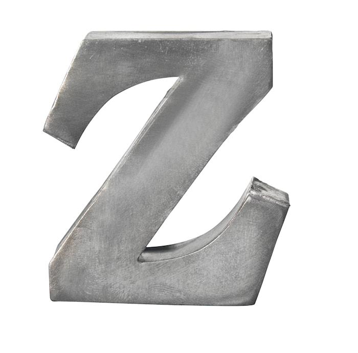 Lettera in zinco, Z
