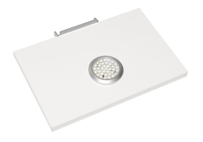 Black hyllplan med LED-belysning Vit 2-set