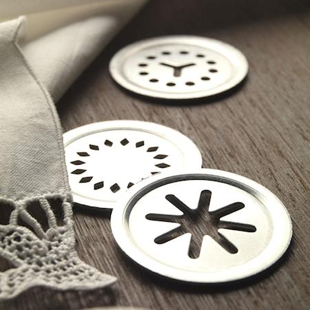 Kakpress 20 olika mönster Silver