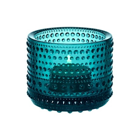Kastehelmi Lysestage 64 mm Havsblå