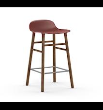 Form Barstol Rød/Valnøtt 65 cm