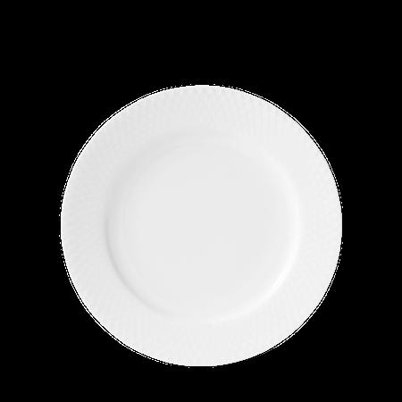 Rhombe Lunsjtallerken Ø21 cm Hvit Porselen