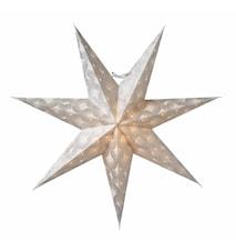 Silvia Julstjärna Vit/Silver 60 cm