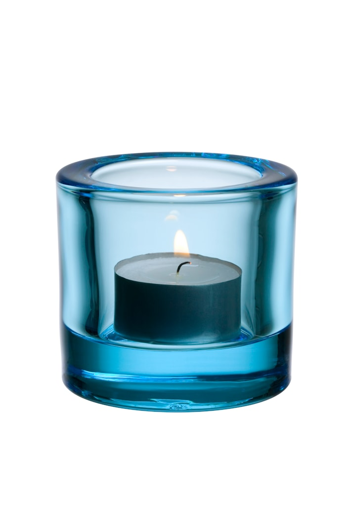 Kivi ljuslykta 60mm ljusblå Presentförpackning