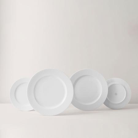 Rhombe Coupe Tallerken Ø20 cm Hvidt Porcelæn