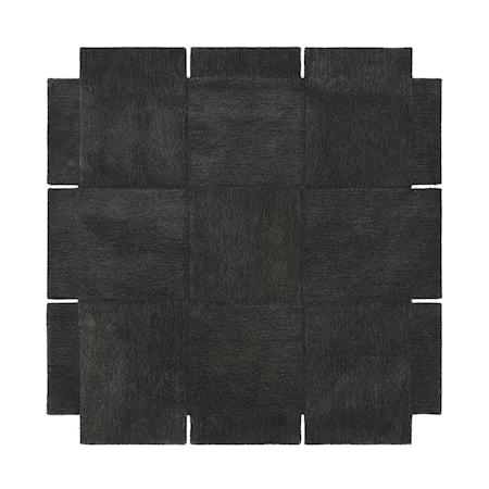 Basket Matta Mörkgrå 180x180 cm
