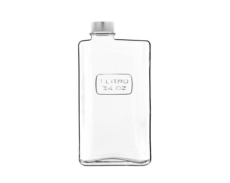 Optima flaske rektangulær klar - 1 liter