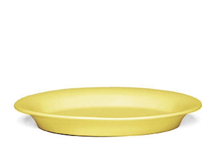 Ursula Oval tallrik 18x13 cm gul (13094)