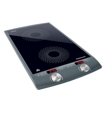 Dual-zone induction cooktop