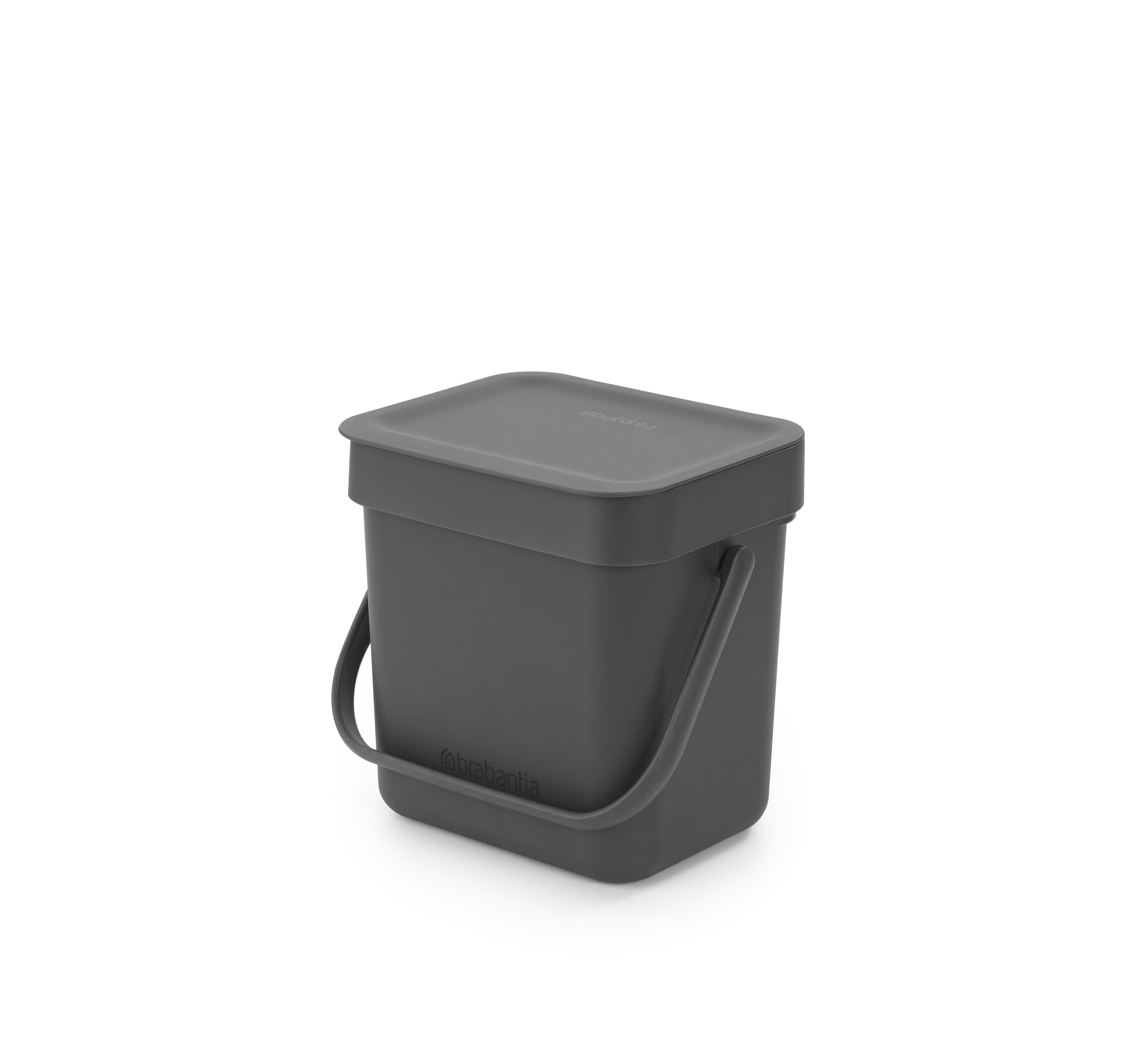Avfallshink Sort & Go 3 L Grå