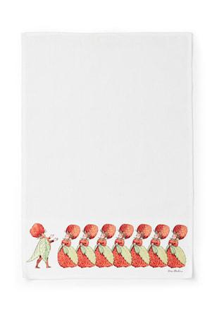 Elsa Beskow Kjøkkenhåndduk Familien Jordbær