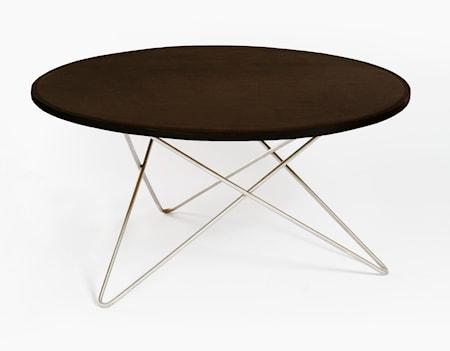 O-table leather soffbord