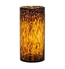 Vase Glass Brun 12x25 cm