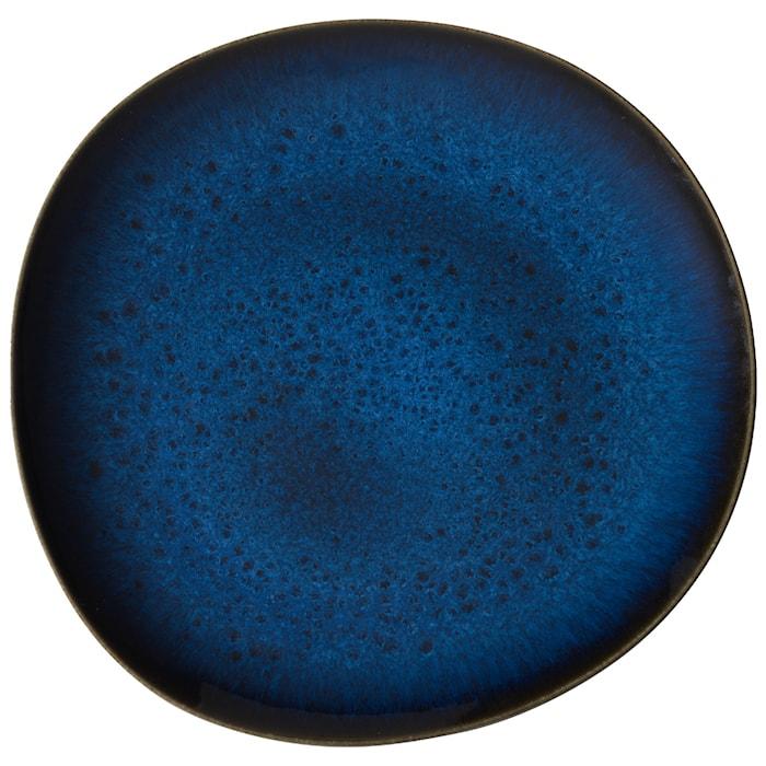 Lave bleu Flat Tallrik