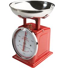Kjøkkenvekt Rød