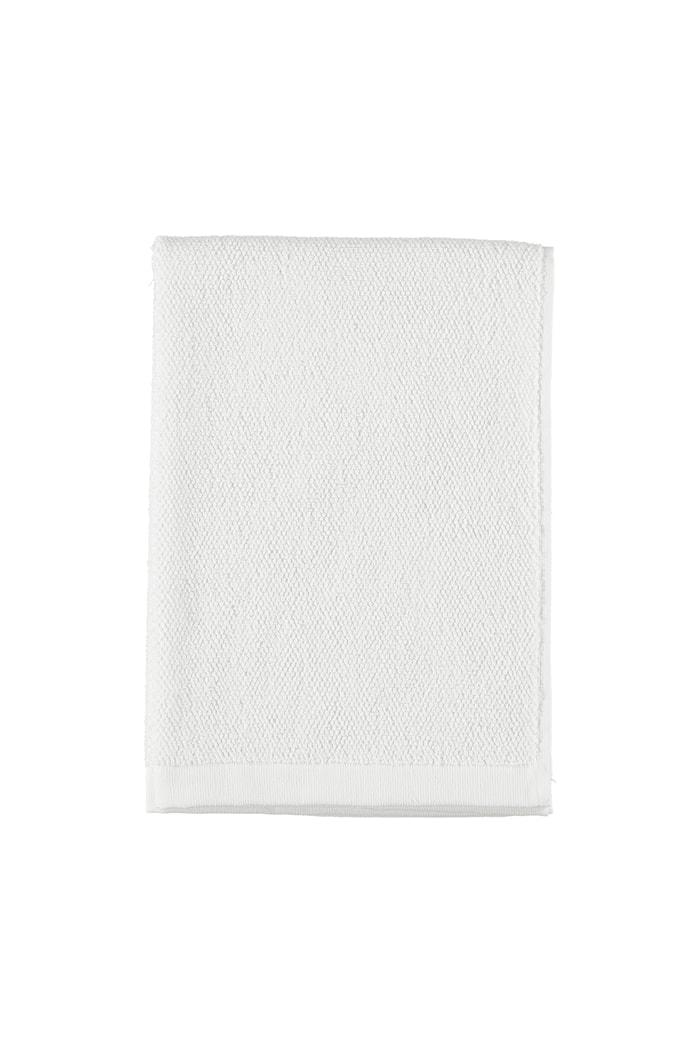 Asciugamano in cotone/lino 50x70 - bianco