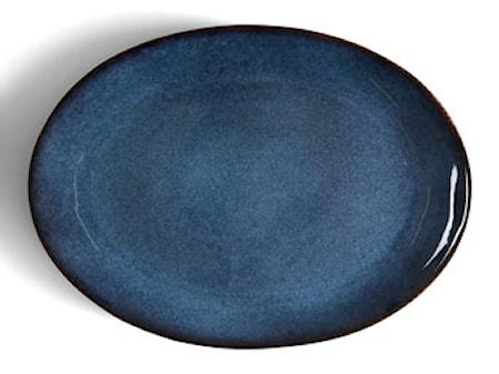 Fad oval sort/mørkblå Bitz