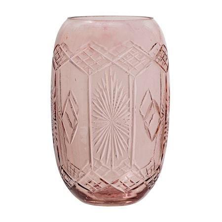 Vase Rosa Glas 9x15 cm