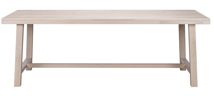Brooklyn Matbord Vitpigmenterad Ek 220x95 cm