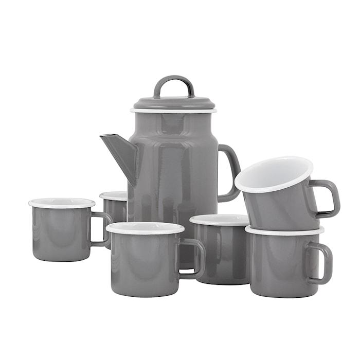 Set con Tetera y 6 Tazas Kockums Grey
