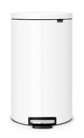 Flatback+ Pedalspand Hvid 30 L
