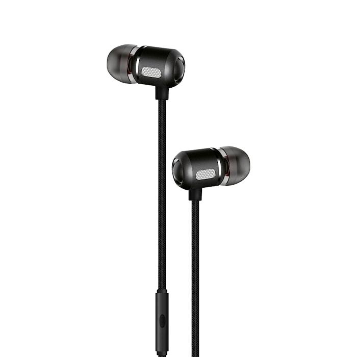 Headset In-Ear Svart Metallic