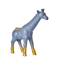Ljusstake Giraff Blå Guld