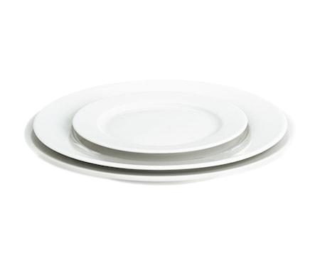 Sancerre tallerken flad hvid, Ø 24 cm